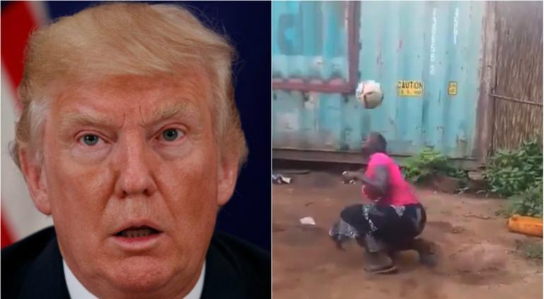 Africana cautiva a millones dominando el balón, incluidoTrump