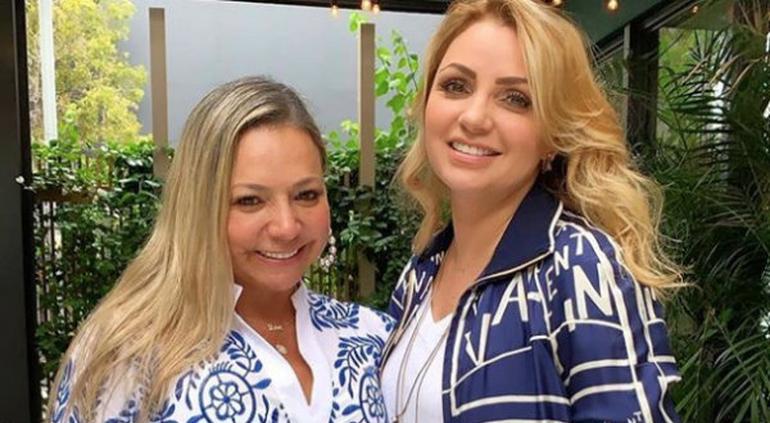 Angélica Rivera reaparece en Miami con la mamá y tía de Maluma