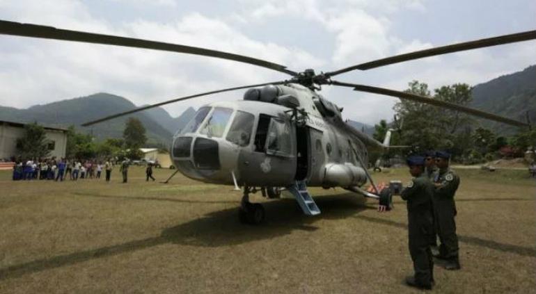 Helicóptero de la SEMAR se desploma en San Luis Potosí