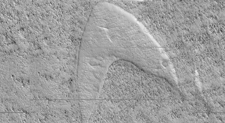 Descubre NASA un logotipo de Star Trek en una duna de Marte