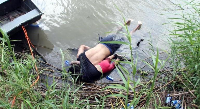 Óscar y la niña se me ahogaron en el río Bravo
