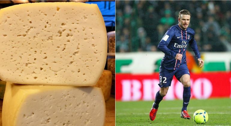 Fabricaron un queso con la piel muerta de David Beckham
