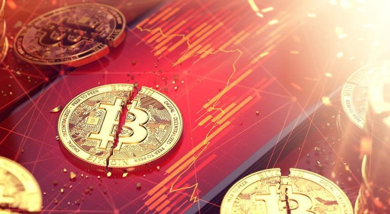Bitcoin cae debajo de los 10 mil dólares por