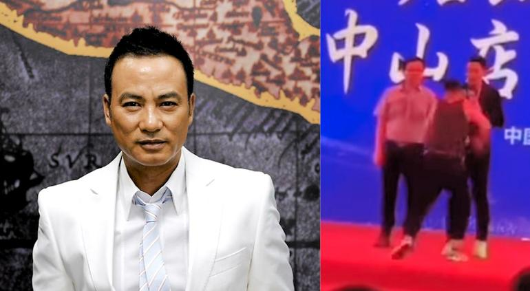 Actor es apuñalado en el escenario en China
