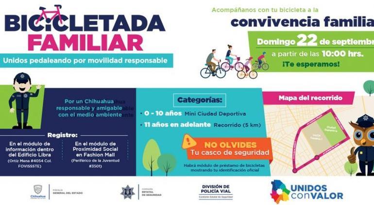 Invita Policía Vial A Bicicletada Familiar Este 22 De