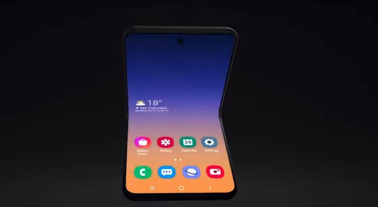 Samsung presenta su nuevo concepto de smartphone con pantalla plegable