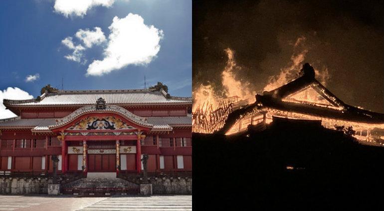 Japón: un gigantesco incendio destruyó el legendario castillo Shuri