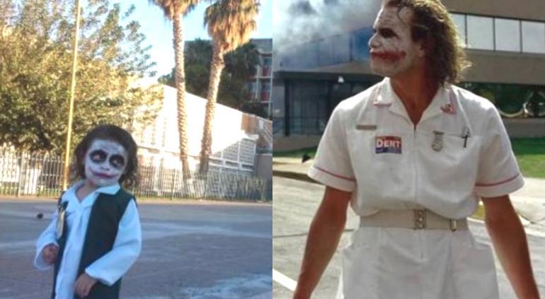 Niña disfrazada de Joker se vuelve viral al posar en el IMSS
