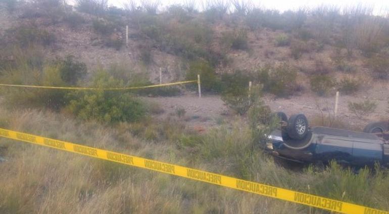 Murió conductor tras volcar en la carretera Ojinaga- Chihuahua - El Tiempo de México