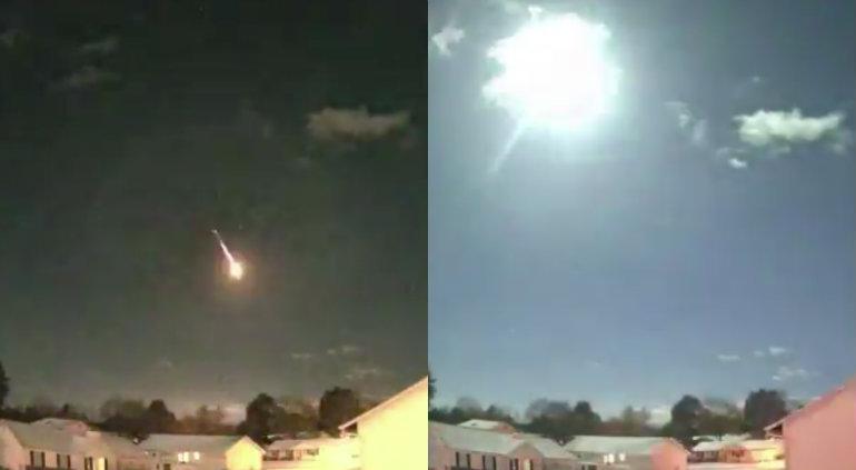 Cámara captura posible meteoro en EE.UU