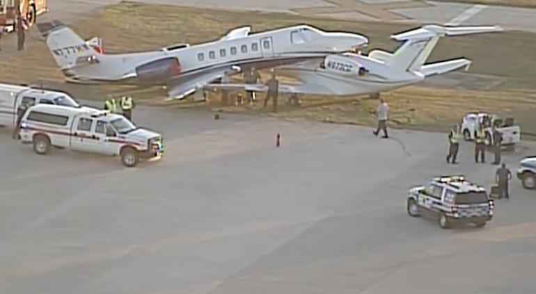 Chocan dos aviones en aeropuerto de San Antonio