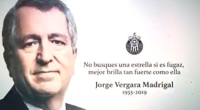Así rindió homenaje Chivas a Jorge Vergara (VIDEO) - El Tiempo de México