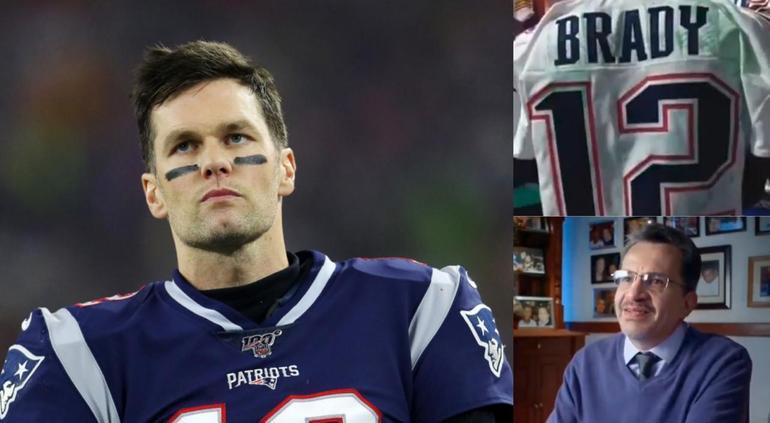 Tom Brady le responde al periodista mexicano que robo su jersey