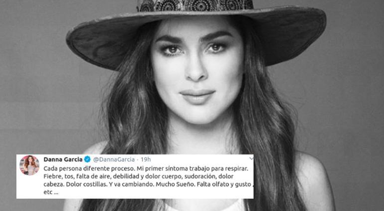 Danna García detalla los síntomas de Covid-19 que tiene