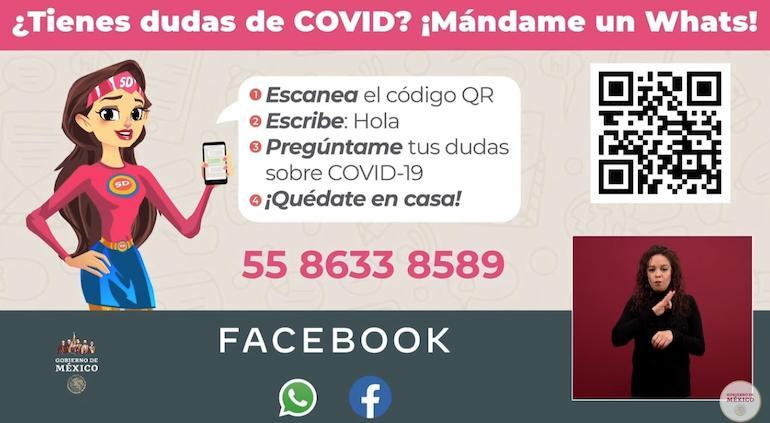 Susana Distancia tiene WhatsApp y responderá dudas sobre COVID-19