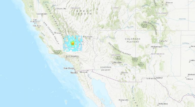 Reportan sismo de magnitud 5.5 en California, Estados Unidos