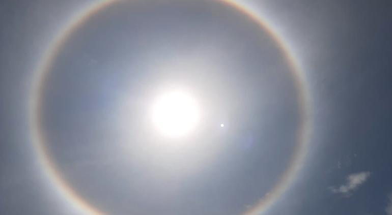 Difunden halo solar captado en Tlaxcala durante sismo