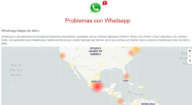 WhatsApp se cayó a nivel global