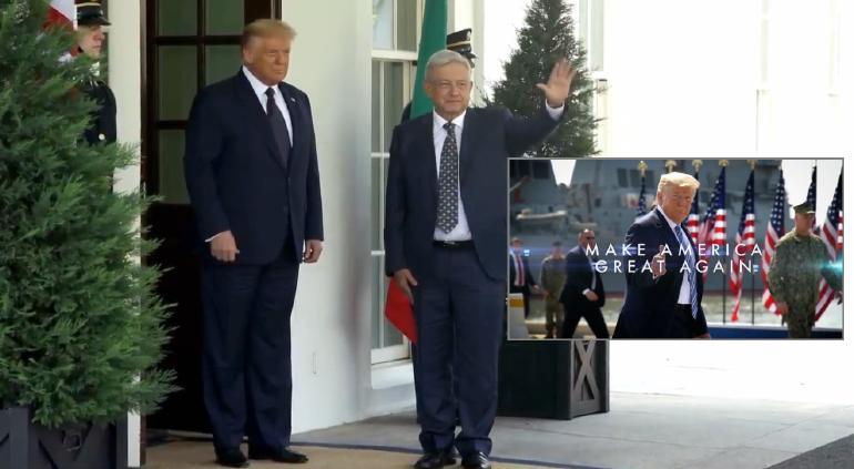 Ante su aparición en spot de Trump, Obrador se dice respetuoso