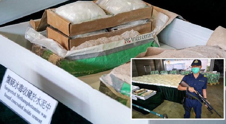 Cuantioso decomiso de metanfetamina mexicana en Hong Kong