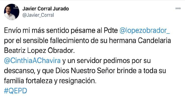 Muere en Chiapas hermana del presidente Lpez Obrador
