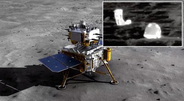Sonda china Chang'e-5 regresó a la Tierra con material lunar