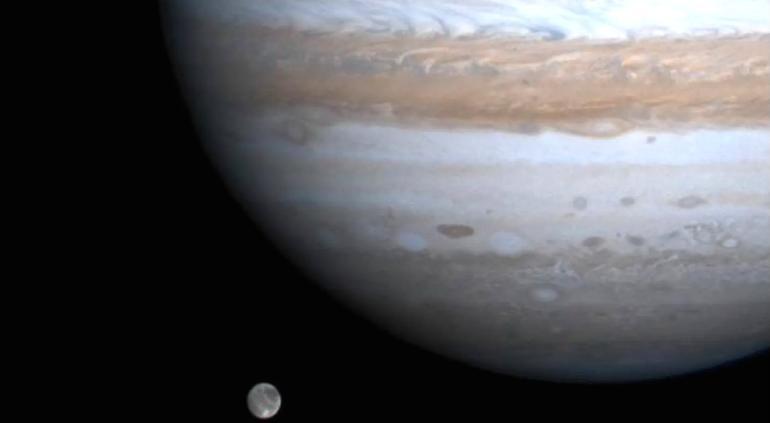 Descubren por 1ª vez radioseñal de Ganímedes, luna de Júpiter