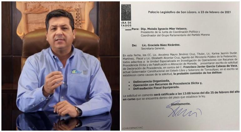 García Cabeza de Vaca acusa a AMLO de